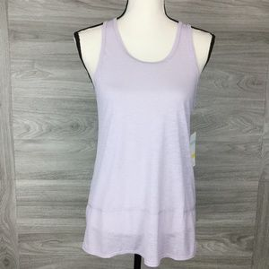 Zella Purple Racerback Tank Top